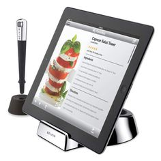 Keep the cookbooks clean when you're cooking for guests by using this Belkin Chef Stand for Tablets (only $29.99)