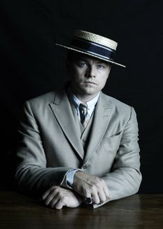 "Leonardo Di Caprio in his ""Great Gatsby"" boater hat..  Youngest person in my Icons gallery.. But he's worth it.."