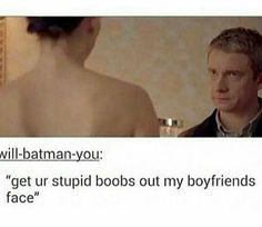 Yeah... Irene! Sherlock is  John's Boyfriend!!!