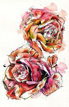 Rose, Rose Clipart, Hand Painted Roses, Cartoon Rose PNG Transparent Image and Clipart for Free Down Plant Drawing, Painting & Drawing, Watercolor Painting, Watercolor Water, Cartoon Rose, Rose Clipart, Blooming Rose, Skin Art, Beautiful Tattoos