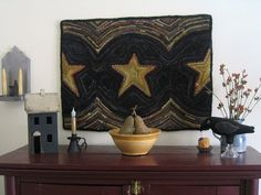 Hannah's Lucky Star by We Three Rug Hooking, via Flickr
