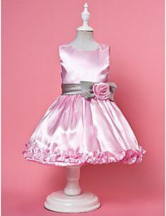 TIZIA - Vestido de Florista de Satén y Tul – USD $ 39.99