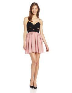 Hailey Logan by Adrianna Papell Juniors Two Tone Chiffon Dress, Black/Blush, 7 Hailey Logan by Adrianna Papell,http://www.amazon.com/dp/B00E8F67P0/ref=cm_sw_r_pi_dp_PXv8sb04SDG6C537