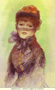 Pierre-Auguste Renoir. Young Woman with a Veil. Olga's Gallery.