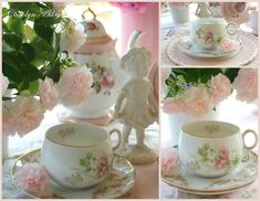 Happy Pink Saturday to you all!  Today,I am sharing a few of my pretty pink china piecs and I hope you will enjoy them.      New pink gobl...