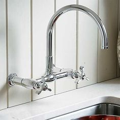 8 vintage style wall-mount kitchen faucets | Wall mount kitchen ...