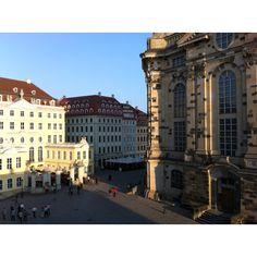 Dresden Platz an der Frauenkirche.