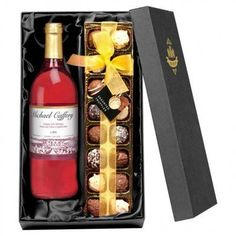French AC Vineyard Rosé Personalised Wine With Luxury Chocolates. https://harringtons-gift-store.co.uk/collections/mothers-day-gifts/products/french-ac-vineyard-rose-personalised-wine-with-luxury-chocolates