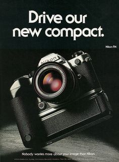 Vintage ad - Nikon FM by mistral_mars Antique Cameras, Old Cameras, Vintage Cameras, Vintage Ads, Nikon Film Camera, Nikon 35mm, Nikon Cameras, Best Camera For Photography, Vintage Photography