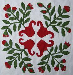 Every Stitch  applique quilt