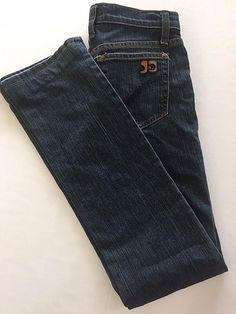 Size 25 JJ Joes Jeans Women Jade Straight Leg XS Size 2 Extra Small Denim Hemmed #JoesJeans #StraightLeg