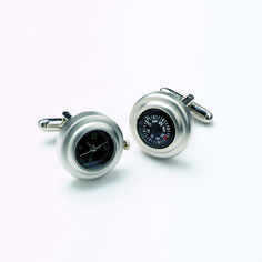 Satin Chrome Watch / Compass Cufflink Set Cufflink Set, Compass, Ministry, Chrome, Satin, Gift Ideas, Watches, Gallery, Gifts