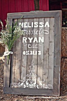 Love the Look of this Rustic DIY Wedding Sign <3 I LOVE THEM ALL 10 Most Darling DIY Wedding Signs from @WeddingMix http://www.echopaul.com/pinterest-program.html