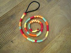 Atebas amovible orange jaune rouge et verte - 43cm fine atebas : Accessoires coiffure par stonanka