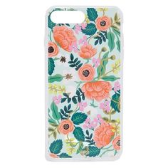 Rifle Paper Co Mint Birch iPhone 7 Plus Case (49 CAD) ❤ liked on Polyvore featuring accessories, tech accessories, mint multi, mint iphone case, iphone cover case, iphone hard case, mint green iphone case and iphone cases