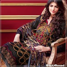 Gul Ahmed Winter Pashmina & Velvet Collection 2016 | BestStylo.com