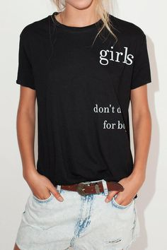 Girls don't dress for boys black short sleeve t-shirt. One size fits US 2-10.   Girls Tee by Don't Tell Mama. Clothing - Tops - Tees & Tanks Clothing - Tops - Graphic Tees Israel