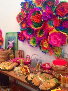 Cinco De Mayo Discover Chic Mexican First Birthday Fiesta - Pretty My Party Bridal shower inspo. No day of the dead stuff though. Mexican Fiesta Party, Fiesta Theme Party, Festa Party, Mexican Bridal Showers, Day Of The Dead Party, Mexican Birthday, 9th Birthday, Thinking Day, First Birthdays