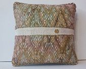 "16"" aztec pillow cover decorative pillow handmade throw pillow vintage kilim pillow southwestern pattern pillow antique cushion embroidered"