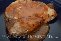 GAPS legal pork chops with apricot sauce. So yummy!