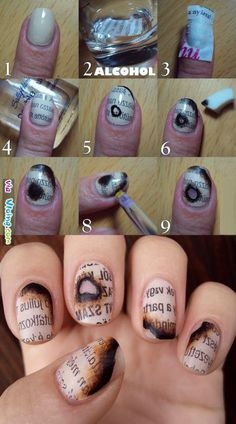 I love that! Burnt paper nails! @Shanine Fogle Fogle Pennington