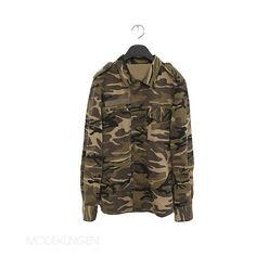 Camouflage Jacket (350 BRL) ❤ liked on Polyvore featuring outerwear, jackets, camouflage, tops, chaqueta, light, brown cotton jacket, camoflage jacket, cotton jacket and camoflauge jacket