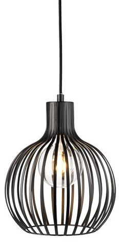 Hanglamp/draadlamp FERDUS zwart Ø23xH28cm incl.LED lamp   JYSK