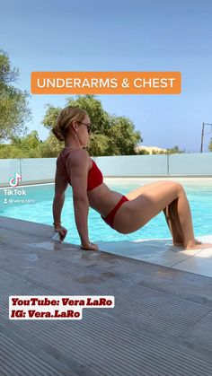 Basic Workout, Gym Workout For Beginners, Gym Workout Tips, Fitness Workout For Women, Workout Videos, Health And Fitness Articles, Fitness Tips, Fitness Motivation, Triceps Workout