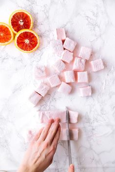 It's citrus season, let's celebrate with fluffy Blood Orange Marshmallows! It's citrus season, let's celebrate with fluffy Blood Orange Marshmallows! Recipes With Marshmallows, Homemade Marshmallows, Making Marshmallows, Marshmallow Recipes, Candy Recipes, Sweet Recipes, Dessert Recipes, Pie Recipes, Just Desserts