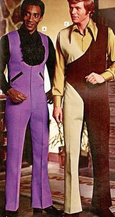 Look at these men dripping with polyester swagu. LOOK AT THEM! I'm gonna name them Carl (left in the purple) and Joe (right in the UPS colors).
