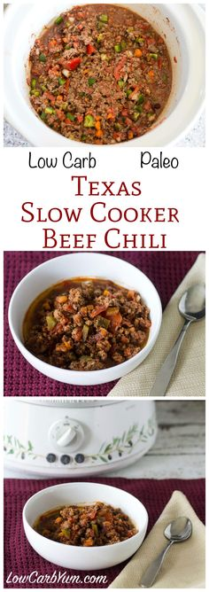 simple paleo low carb slow cooker beef chili that is quick and easy ...