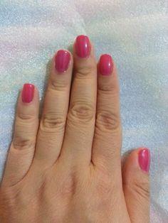 First ever gel polish nails done by myself with Gelish Gossip Girl.  #gelish #shellac #gelishgossipgirl
