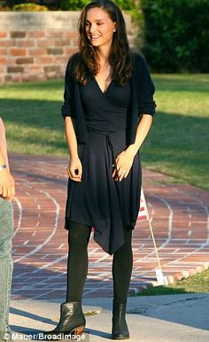 Natalie Portman on the set of Knight of Cups,