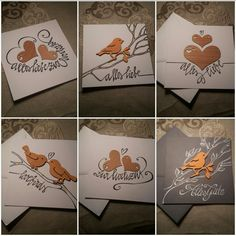 "cards - made for ""Dagis Deko"" Mils b.Schönwies/Tirol  * handlettering * paper * wood * ink *"
