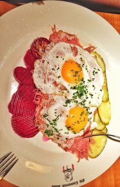 Traditional German sailor food - Labskaus in Hamburg
