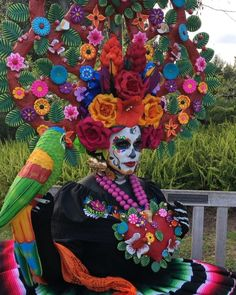 Inspiration For The Day, Creative Inspiration, Day Of Dead Makeup, Sugar Skull Makeup, Day Of The Dead, Favorite Holiday, Halloween Makeup, Instagram, Crafts