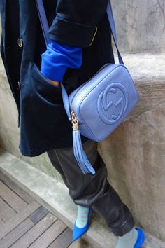 Chinese fashion blogger Hilary Tsui carrying the Gucci Soho Disco Bag