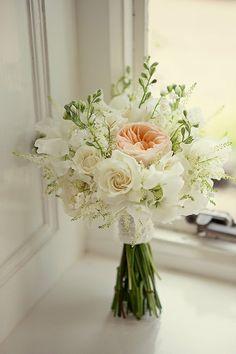 www.kateaveryflowers.co.uk Photography: http://www.mariannetaylorphotography.co.uk/ Bridal bouquet, David Austin Juliet roses, apricot & ivory