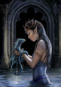 Fairy and dragon..... Gotta love Anne stokes