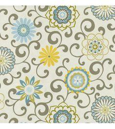 Home Decor Print Fabric- Waverly - Pom Pom Play Spa