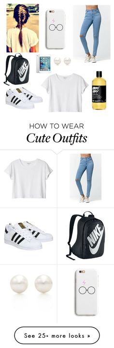 """School Outfit"" featuring Bullhead Denim Co., adidas, Monki, NIKE, Apple and Tiffany & Co. Outfits For Teens, Winter Outfits, Summer Outfits, Casual Outfits, Cute Outfits, Teen Fashion, Runway Fashion, Fashion Models, Fashion Shoes"