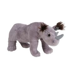 "Plush 8"" Rhino at theBIGzoo.com, an animal-themed store established in August 2000."