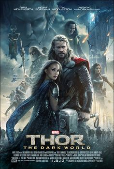 See the new movie poster for Thor 2 The Dark World starring Chris Hemsworth & Natalie Portman. The release date for the Marvel film is November Thor 2, New Thor, Frigga Thor, Great Movies, New Movies, Movies Online, Movies And Tv Shows, Watch Movies, Movies Free