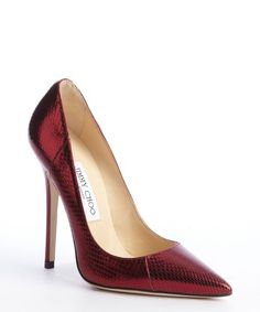 1390623ae14  Replica Jimmy Choo claret red snake embossed leather  Anouk  pumps 5-1552   237