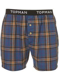 Topman Branded Check Underwear @ topman.com