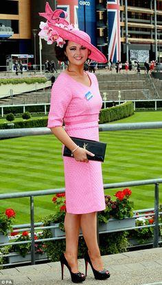 895b9d4dab74e Stylish  Racegoer Jennifer Wrynne accessorised her all-pink look with a  black YSL clutch