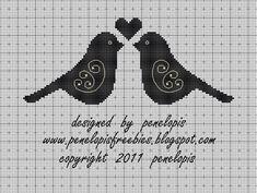 Penelopis' cross stitch freebies: The birds/Ptaszki