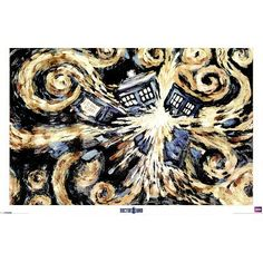 Van Gogh's Exploding Tardis -- someone should get me this for my birthday!