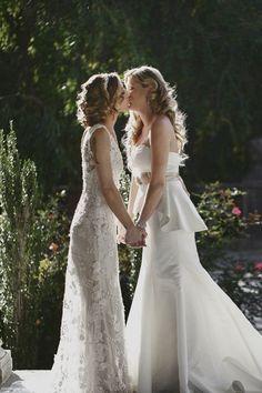 41 Bridal Couple Outfits For Same Sex Weddings Lesbian Wedding Photos, Lgbt Wedding, Wedding Pics, Wedding Gowns, Dream Wedding, Wedding Menu, Wedding Portraits, Wedding Bride, Wedding Engagement