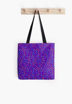'Mixed Dot Design' Tote Bag by Shane Simpson Dots Design, Tote Bags, Retro, Stuff To Buy, Tote Bag, Totes, Retro Illustration